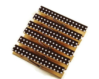 Altered Clothespin  Clips  Decorative  Wooden Clothespins in Domino