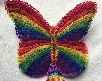 Rainbow Butterfly Barrette