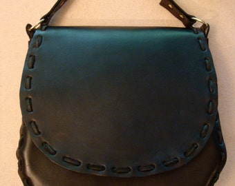 Norma Handmade Black Leather Crossbody Bag - Shoulder Bag - Purse - Handbag