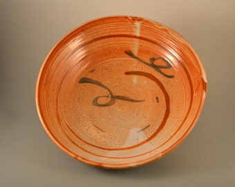 Autumn - toasty brown handmade stoneware bowl,  perfect for pasta, fruit and salad