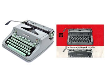 Hermes 3000 Media Portable Typewriter Instruction Manual Instant Download