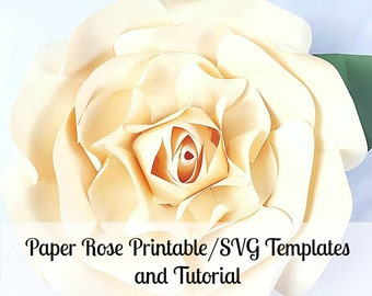 Large paper rose template giant paper flower printable large paper flowers giant paper flowers printable rose template paper flowers rose tutorial mightylinksfo