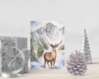 "5""x7"" Christmas Card (Deer Painting)"