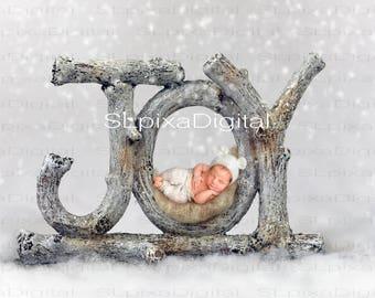 Digital background digital backdrop newborn winter christmas     #25