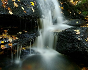 A Small Falls in Autumn