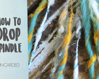 SPINDLING Uncarded Art Yarn - How to Spin Art Yarn on a Drop Spindle - One HD Video Tutorial from How to Spin Yarn