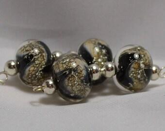 Black Stardust Bead