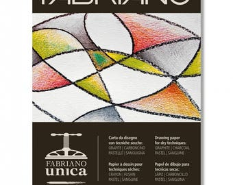 "Fabriano Unica Pad - Printmaking and Drawing Paper 8.5"" x 11.75"""