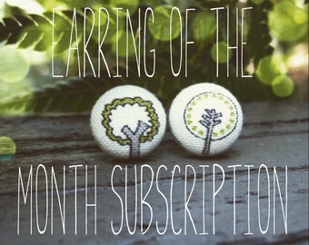 Earring of the Month Subscription - 6 months - 6 pairs of stud earrings
