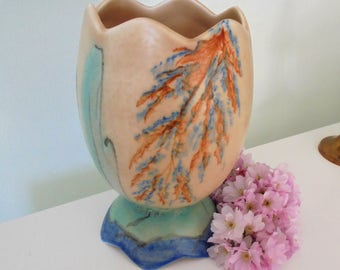 Art Deco  Egg Shaped Vase.Made in Stretton.Hand painted vase.