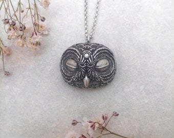 The Sleeping Owl~ Owl pendant Sterling Silver