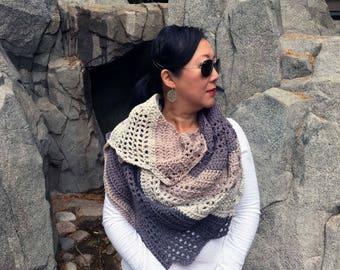 Dragonwing crochet scarf/shawl