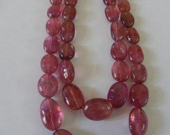 Natural Rubellite (Tourmaline) Double Strand Necklace