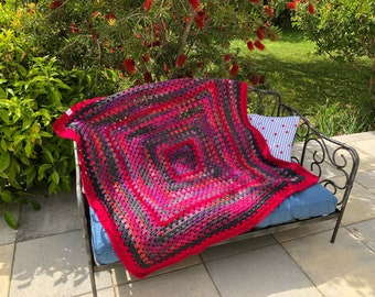 Plaid crocheted decorative new blanket