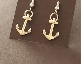 Earrings - Drop, Anchors Aweigh