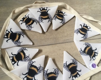Bee bunting, bumble bees, bunting, for bee lovers, for bee keepers