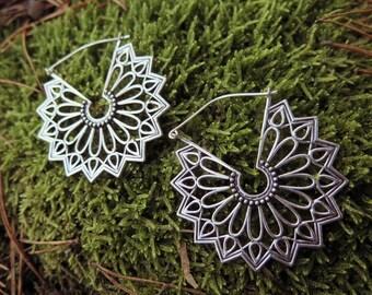 Graceful Goddess Silver Plated Earrings