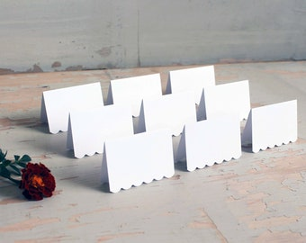 white place cards for wedding, shower, party set of 100 - delaney