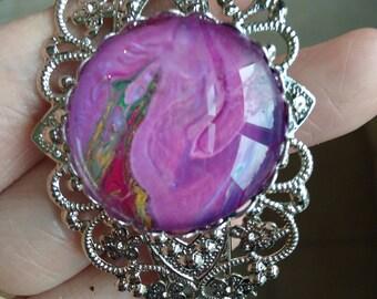 Poured Acrylic Bangle Bracelet