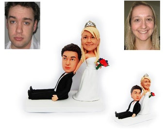 Personalised wedding cake topper - Come with me  (Free shipping)