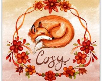 Double 'Cosy' original design handmade 15cm x 15cm