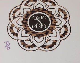 Mandala Decal - Personalized - Initial - Decals - Mandala - Lilly - LP - Lilly Pulitizer - Yeti - RTIC - Tumbler - Ozark - Stainless Steel