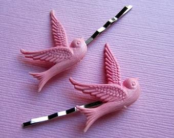 Pastel pink dove hair bobby pin