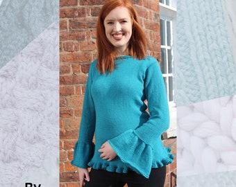 Bluebell Sweater Hand Knitting Pattern