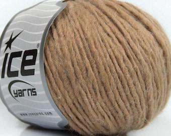 Peru Alpaca Worsted Yarn Beige #48977 Ice Merino Wool Alpaca Acrylic 50g 98y