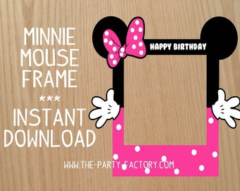 Minnie Mouse Photo Booth Frame, Custom Design (Digital File) , Instant Download