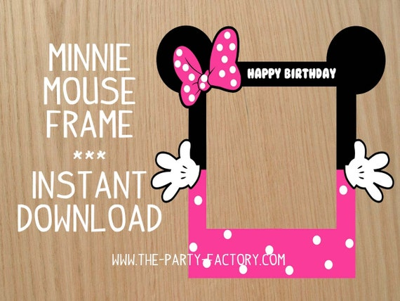 Minnie Mouse Photo Booth Frame Custom Design Digital File