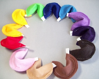 Multi-color fortune cookies (Choose 6)