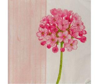 Set of 3 pink PLA024 flowers paper napkins
