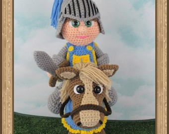 Knight And His Horse (PDF file only, this is not the finished doll)