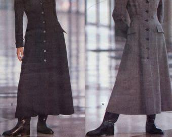 VOGUE 1054 DRESS Patterns DKNY Front Button Long Sleeves Coatdress Donna Karan American Designer Size 8 10 12 UNCuT Womens Sewing Patterns
