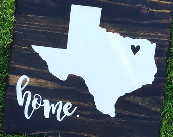 state wooden sign | choose your state + home | rustic decor | state love