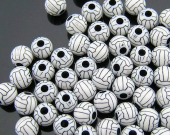 10 Volleyball Beads Great for Sports Designs -  K240
