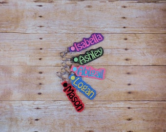 Kids Bag Tag - Kids Backpack - Custom Name Bag Tag - Bag Tag for Kids - School Backpack Tag - Backpack Accessories - Kids Backpack Tags