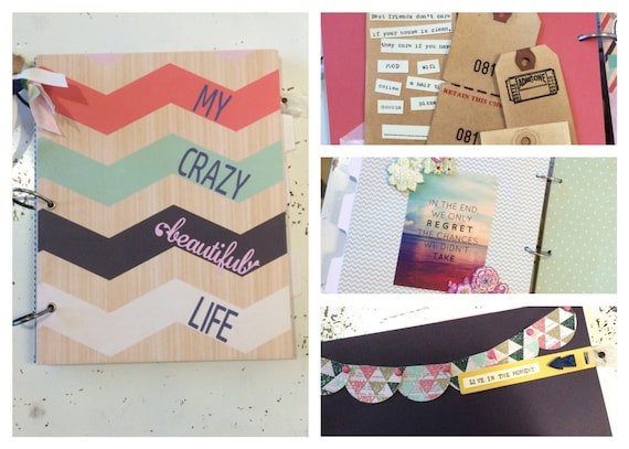 My Crazy Beautiful Life Best Friends Scrapbook Photo Keepsake Album With A Tumblr Aesthetic From PaperHarborCo On Etsy Studio