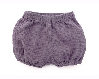 Handmade Organic Cotton Baby/Toddler Bloomers in Lavender