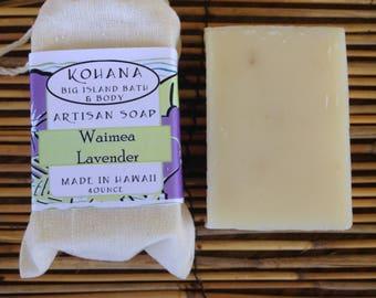 Waimea Lavender Artisan Soap 4 oz.-Made in Hawaii-FREE SHIPPING