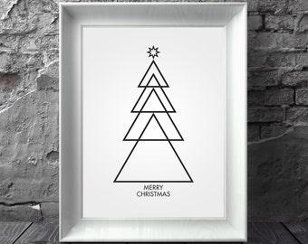 Christmas Decor, Winter Art, Christmas, Holiday Prints, Christmas Print, Black and White Christmas, Winter Decor, Christmas Prints