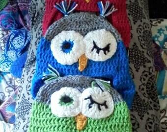 Tufted Owl Crochet Hat