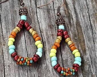 BOHO Pear Shape Dangle Earrings