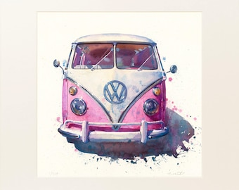 Campervan 2 - Large Limited Edition Print by Richard Eraut