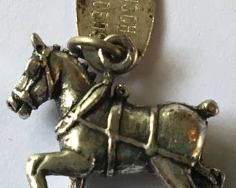 Vintage Silver Horse Charm Busch Gardens