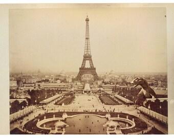 Paris, Digital Print, Eiffel Tower, monster art, kaiju, Paris France, geekery, kaiju print, tour eiffel, alternate histories, France, Expo