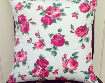 pretty vintage roses pillow cover 14x14