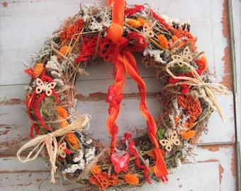 Door wreath wreaths wreath wall flower nature Butterfly