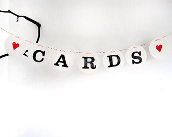 CARDS Garland // wedding bunting by renna deluxe